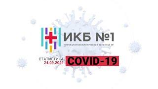 Фото Статистика ИКБ №1 по COVID-19 24.09.2021