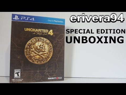Uncharted 4 A Thief's End Special Edition PS4 Unboxing Playstation 4