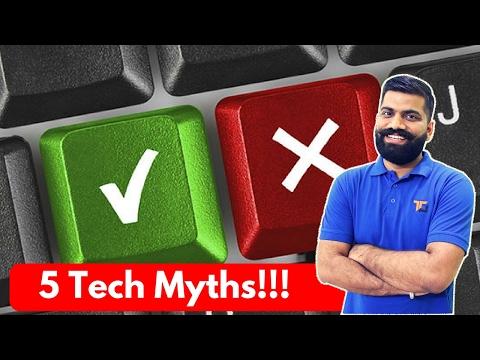 Top 5 Tech Myths | Myth Buster