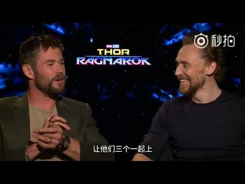 Tom Hiddleston & Chris Hemsworth in Chinese Q&A