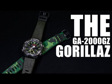 THE GORILLAZ X G-SHOCK - CASIO GA-2000GZ-3A REVIEW ( TERSEDIA SUBS INDONESIA )