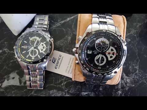 Fake vs genuine comparison. How to spot fake Casio Edifice watch on ebay.