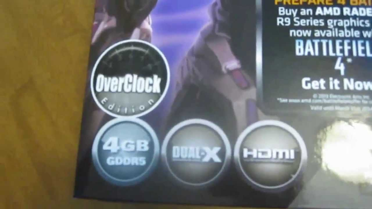 Sapphire R9 270x 4gb OC Unboxing & Benchmarks