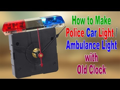 how-to-make-a-flashing-ambulance-/-police-car-light-with-an-old-clock-at-home