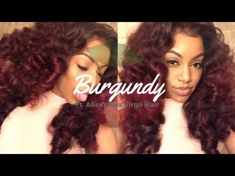 DYING HAIR BURGUNDY WITHOUT BLEACH!!
