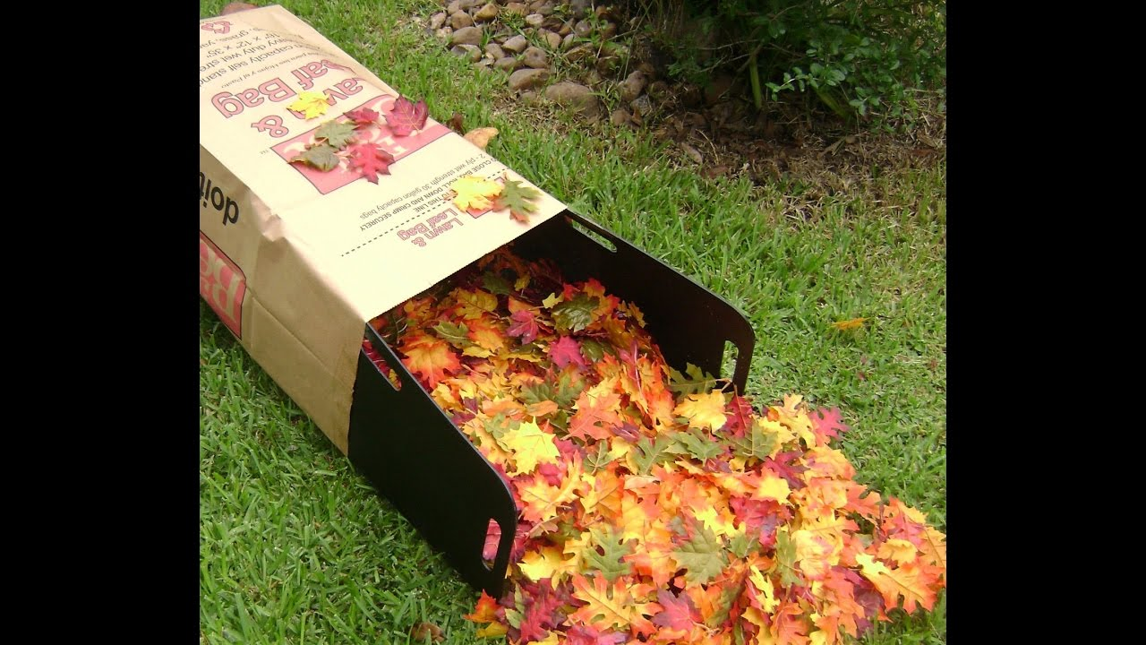 How To Use A Bag Butler With Paper Lawn And Leaf Bags