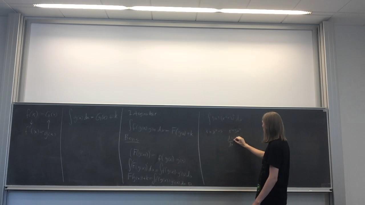 Årsprøve Video - Opgave 7: Ubestemte integraler