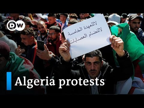 Algerian protesters rally, connect through Facebook chain me