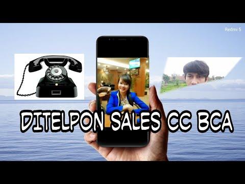 Ditelpon sales cc/ kartu kredit BCA credit card
