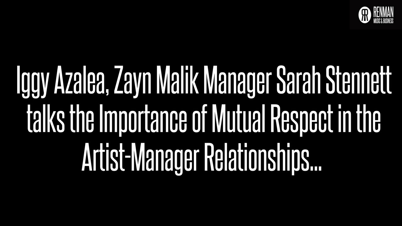 artist manager sarah stennett talks the importance of mutual respect in artist manager relationships - What Is A Artist Manager