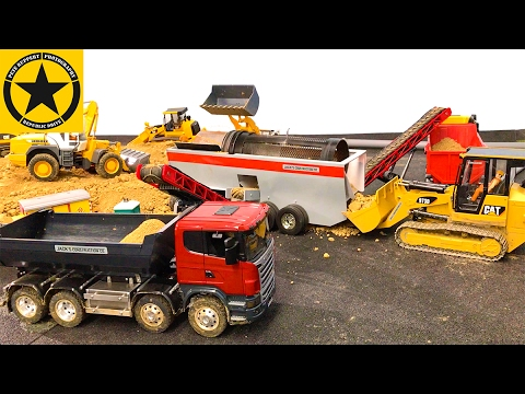 Toy Truck Videos for CHILDREN👍 BRUDER TRUCKS Quarry Toy Kid