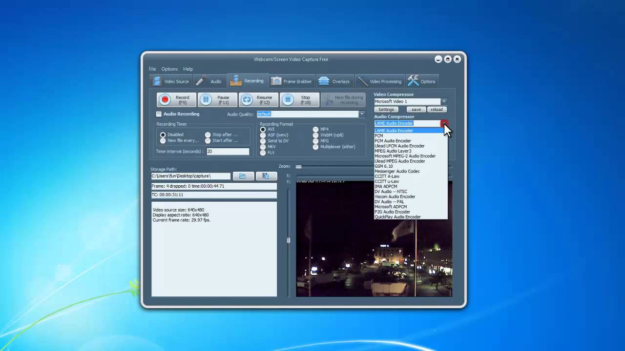 ip camera video recording software free