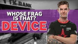 Device Plays Whose Frag is That?