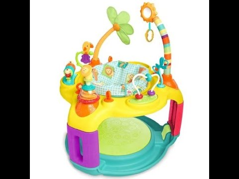 f9a602212 Review  Bright Starts Springin  Safari Bounce-a-Bout Activity Center ...