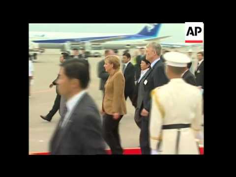 WRAP German Chancellor Merkel in China, arrives in Japan