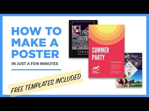 picture relating to Making a Printable Banner known as Cost-free Poster Manufacturer - Style and design Posters On-line [18 No cost Templates]
