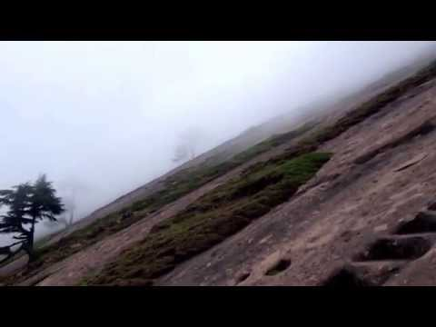 "Climbing ""Billo ki Powri"" (Kud, J&K) on a misty day"