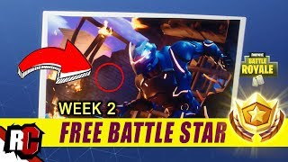 Fortnite | Free Battle Star Location Week #2 (Secret Blockbuster Challenge Coordinates)