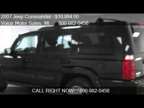 2007 jeep commander sport 4x4 4 door for sale in for Voice motors kalkaska michigan