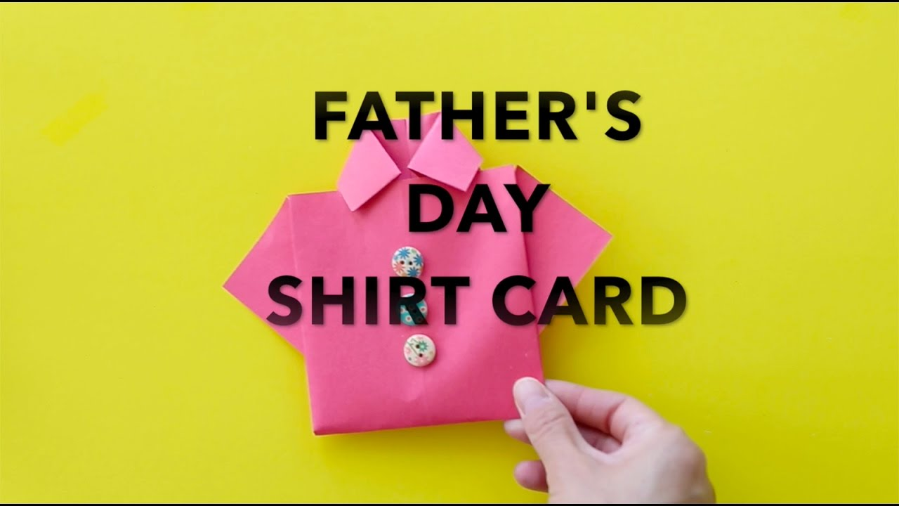 how to make an easy origami shirt card for father's day