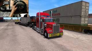 55 Tonne Transformer delivery - American Truck Simulator (logitech g29) gameplay