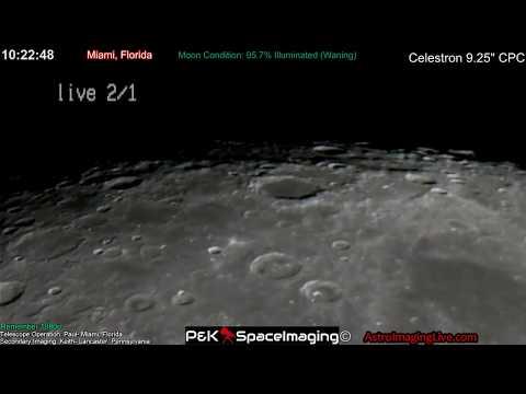 Telescope Moon Observation LIVE! 2-1-18)