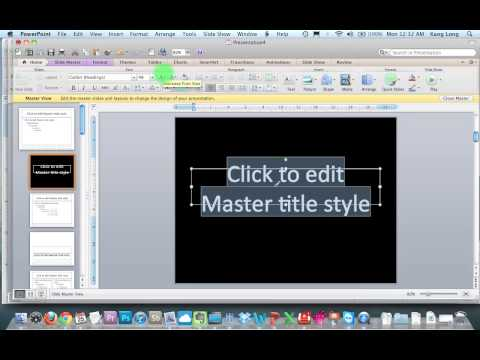 How to convert Word documents into Powerpoint slides (Microsoft 2007, Mac 2011)