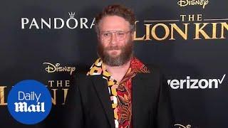 Seth Rogen looks dapper on the 'Lion King' red carpet