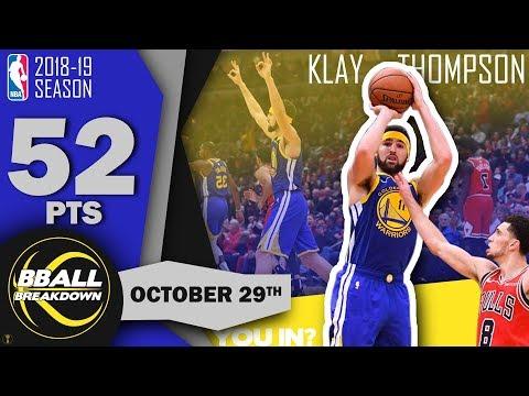 Klay Thompson Breaks Curry's NBA Record 14 Threes vs Bulls