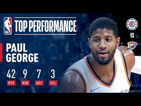 Paul George Bursts For 42 Points in Victory vs. Clippers | November 10, 2017