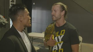Baixar Adam Cole nearly comes to blows with Akira Tozawa prior to EVOLVE special