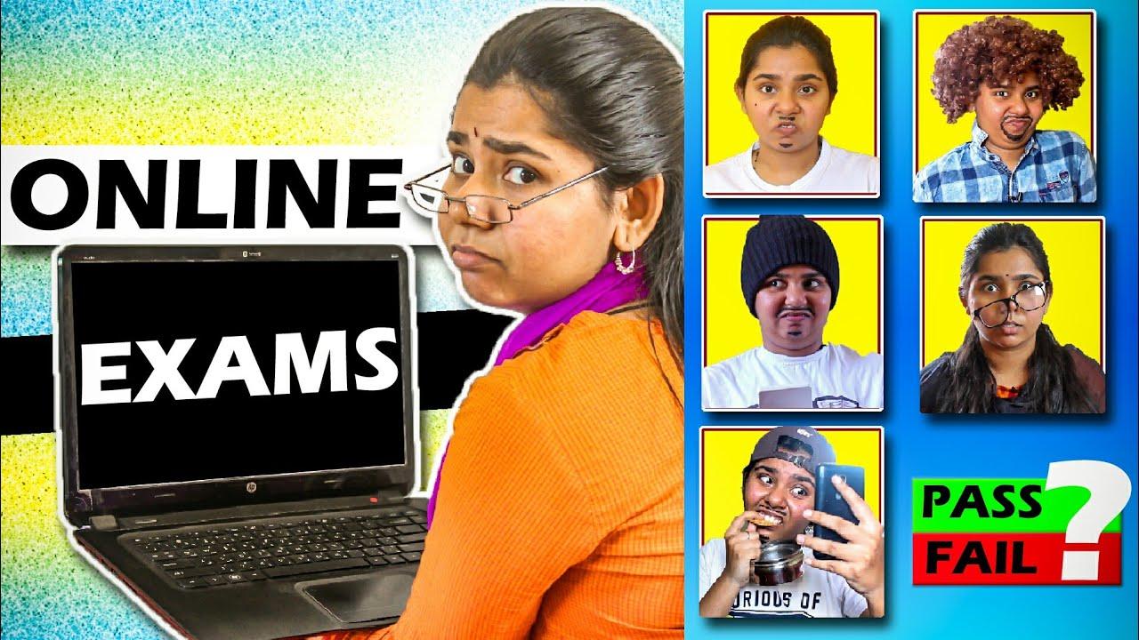ONLINE EXAM Kodumaigal (during lockdown)   Simply sruthi   Tamil Comedy 2020