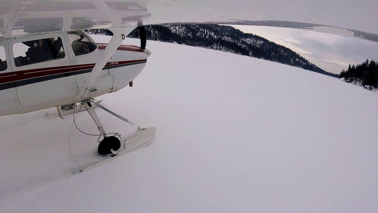 Cessna 175 & the Champ on Snow Skis – Latitude Aviation