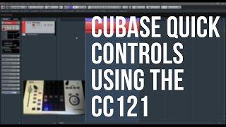 Cubase Quick Controls using the CC121