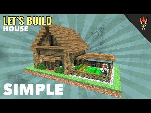 Minecraft Membuat Rumah Survival 3 Kebun Sayur Kamar Loteng
