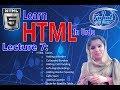HTML Web Development Tutorial for Beginners (Topic:HTML  Tables) (07) in Urdu/Hindi