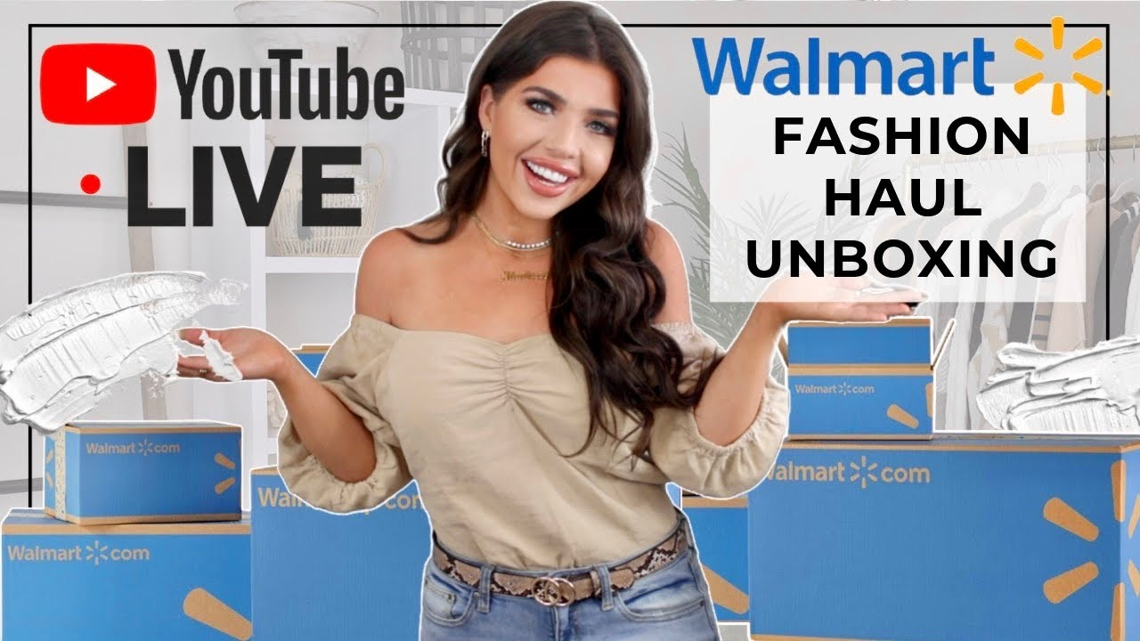 LIVE 🔴 WALMART FALL FASHION HAUL UNBOXING   What's New at Walmart With Madison Payne