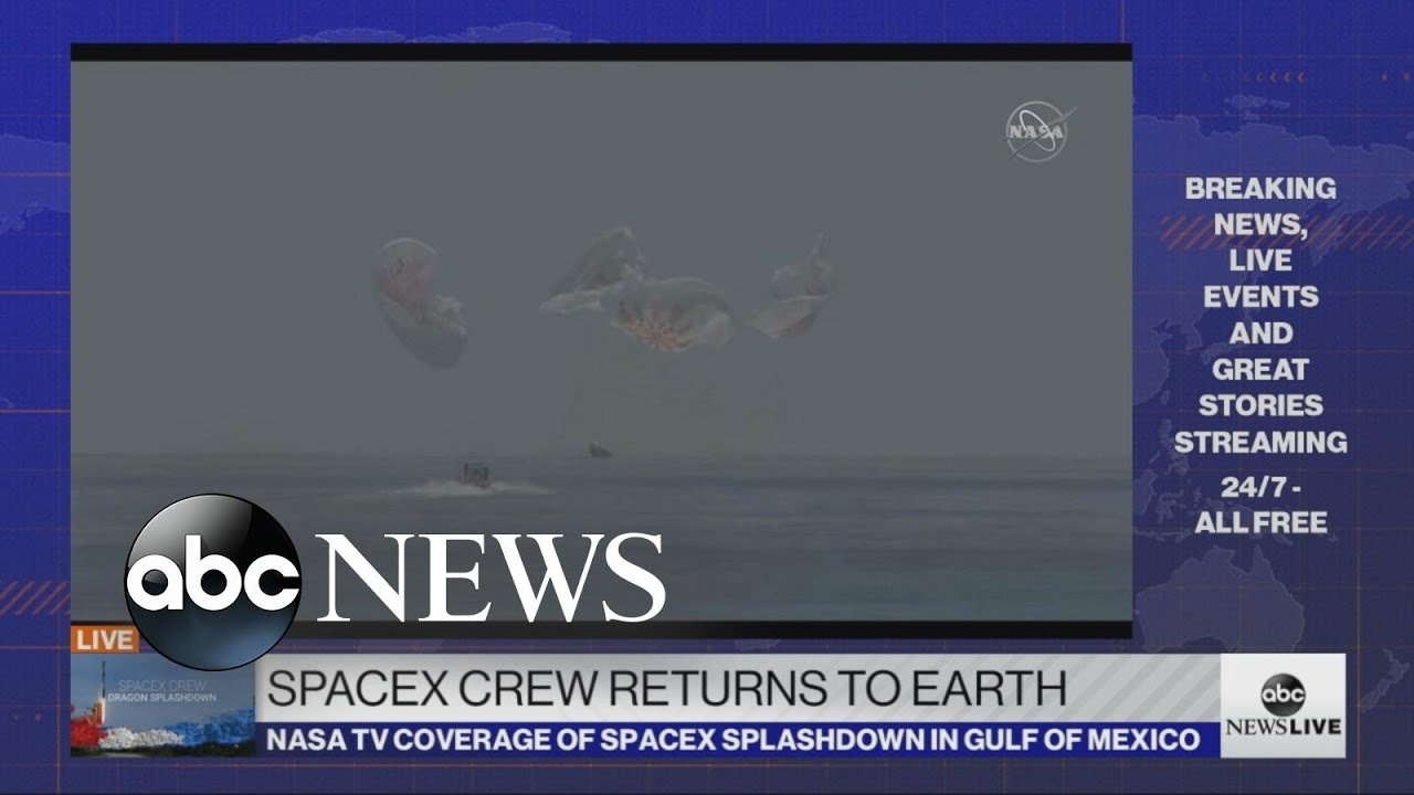 SpaceX crew returns to Earth