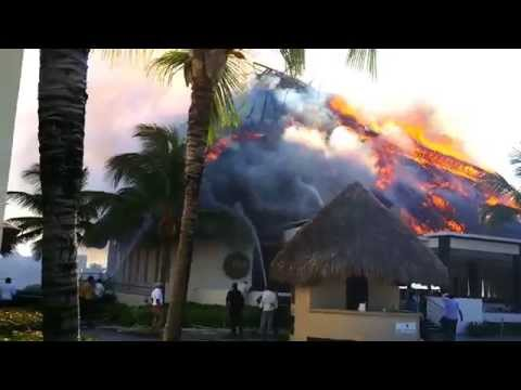 FIRE at Hard Rock Hotel and Casino Punta Cana Ipanema Restaurant 2014
