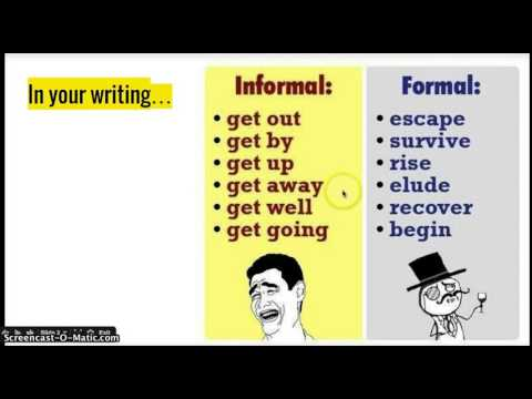 Formal vs Informal Tone