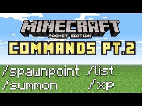 Minecraft PE - How To Use Commands!