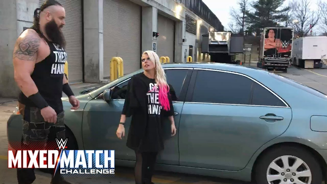 How To Flip Cars >> Braun Strowman teaches Alexa Bliss how to flip cars for WWE Mixed Match Challenge - YouTube