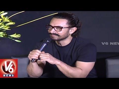 Aamir Khan Press Meet : Secret Superstar Movie Promotions In Hyderabad | V6 News