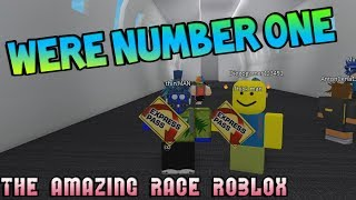 WERE NUMBER ONE! [The Amazing Race ROBLOX]