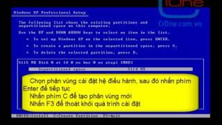 Hướng dẫn cài đặt hệ điều hành Window XP Professional (phần 1)