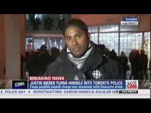 BREAKING: Watch Justin Bieber Turns Himself in Toroto Police Station for Attacking Limo Dr