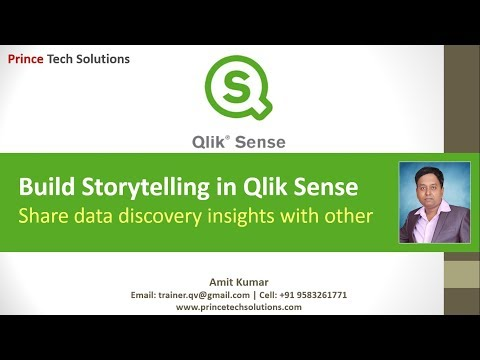 Qlik Sense Tutorial | Build Storytelling to gather insight throughout analysis