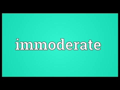 Header of immoderate