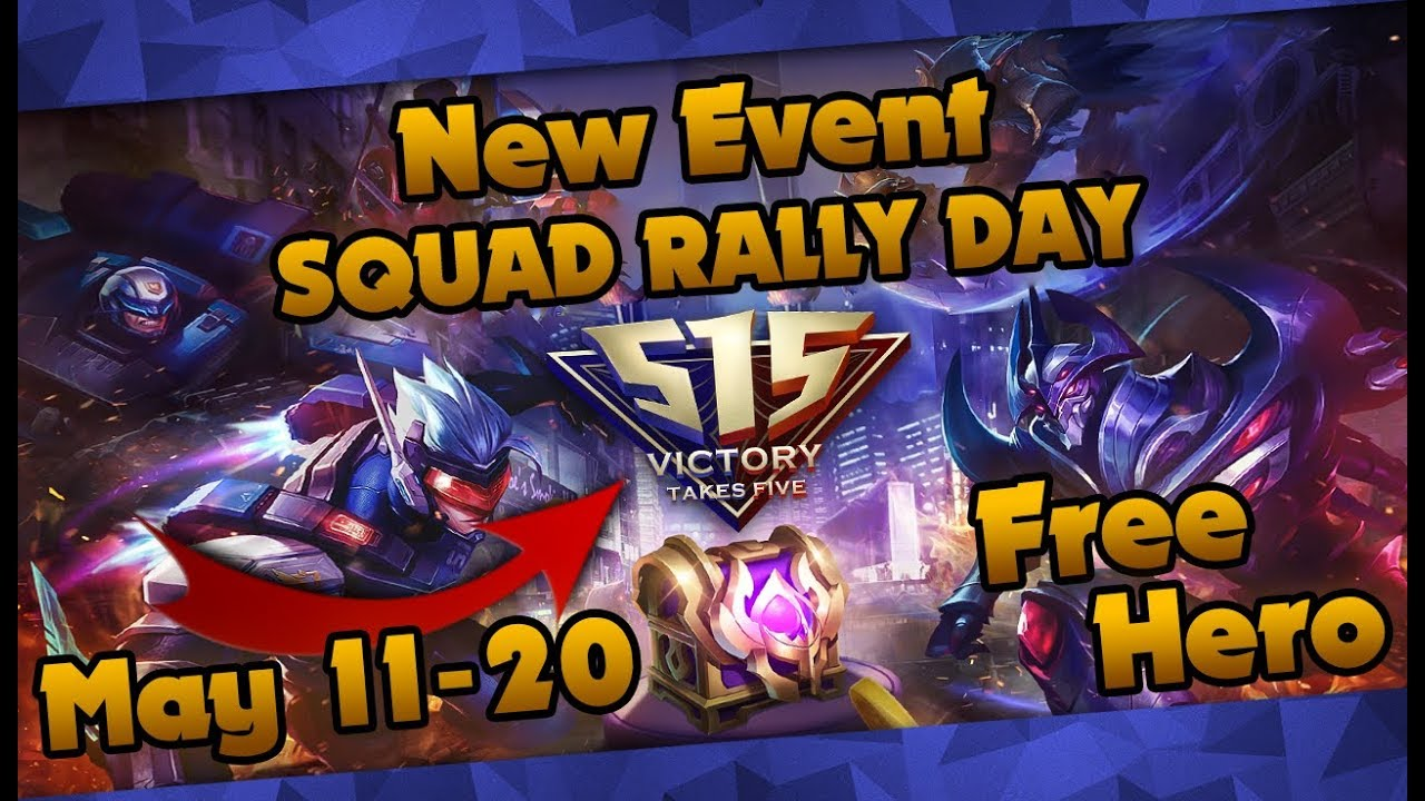 Mobile Legends: Squad Rally Day Event! Free Heroes, Border and More!