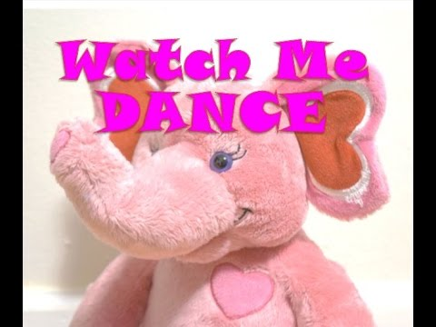 DANCING PINK ELEPHANT Build A Bear Plush Music Doll Stuffed Animal Workshop Cute Hearts Love
